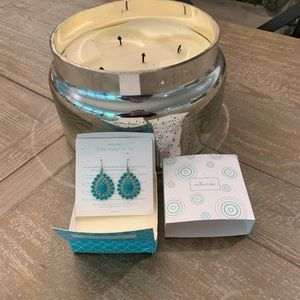 Stella Dot Turquoise Chandelier Earrings